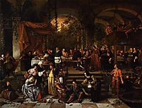 Wedding Feast at Cana, 1672, steen