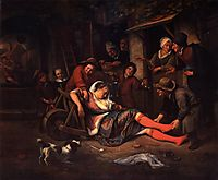 Wine is a Mocker, 1670, steen