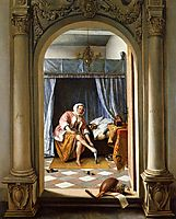Woman at Her Toilet, 1663, steen
