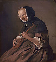 Woman playing the sistrum, c.1662, steen