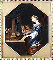 SAINTE CECILE PLAYING THE ORGAN, stella