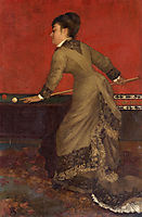 Elegant at Billiards, 1906, stevens