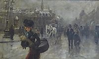 Elegant on the Boulevards, c.1888, stevens
