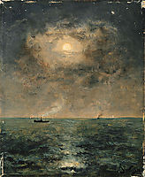 Moonlit seascape, 1892, stevens