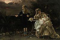 Mother and Children, 1887, stevens