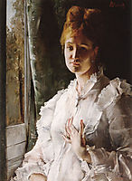 Portrait of a Woman in White, stevens