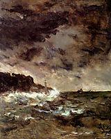 A Stormy Night, 1892, stevens