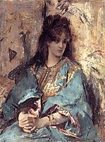 A Woman Seated in Oriental Dress, stevens