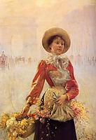 Flower Girl, 1890, stewart