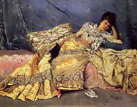 Lady On A Pink Divan, 1877, stewart