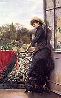 On The Terrace, 1884, stewart