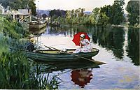 Quiet Day on the Seine, 1880, stewart