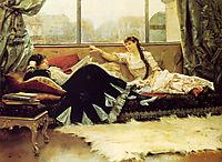 Sarah Bernhardt and Christine Nilsson , 1883, stewart