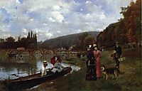 The Seine at Bougival, 1885, stewart