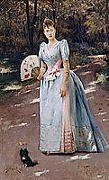 Woman in a Garden, 1888, stewart