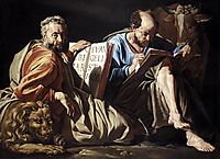 The Evangelists St. Mark and St. Luke, c.1635, stomer