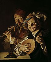 The Lutenist and Flautist, c.1640, stomer