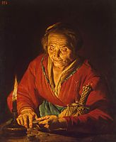 Old Woman with a Candle, stomer