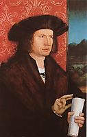 Portrait of Georg Tannstetter (Collimitius), c.1515, strigel