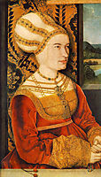 Portrait of Sibylla (or Sybilla) von Freyberg (born Gossenbrot), 1515, strigel