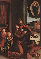 St. Ladislas Presents Wladislav II and His Sons to the Virgin, 1512, strigel