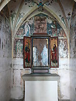 Triptych: Inner left Wing St. Philip, St. James the Great Right, 1480, strigel