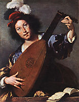 Lute Player, 1635, strozzi