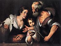 Prophet Elijah and the Widow of Sarepta, 1630, strozzi