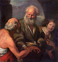 St. Peter Cures the Lame Beggar, strozzi