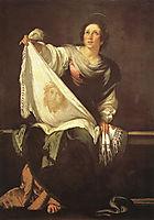 St. Veronica , 1630, strozzi