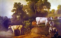 Cattle by a Stream, stubbs