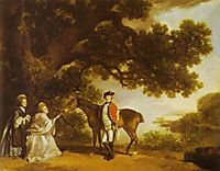 Colonel Pocklington with His Sisters, 1769, stubbs