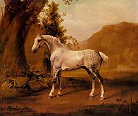 A Grey Stallion In A Landscape, stubbs
