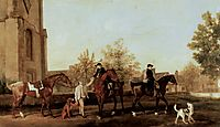 The Hunters leave Southill , 1768, stubbs