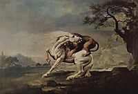 Lion Attacking a Horse, 1765, stubbs