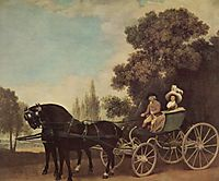 Lord and Lady in a Phaeton, 1787, stubbs