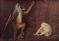 Pavian and Albino Makake, c.1780, stubbs