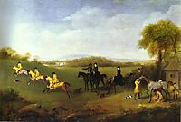 Racehorses Belonging to the Duke of Richmond Exercising at Goodwood, 1761, stubbs