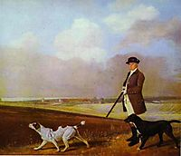 Sir John Nelthorpe, 6th Baronet out Shooting with his Dogs in Barton Field, Lincolnshire, 1776, stubbs
