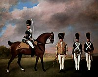 Soldiers of the 10th Dragoon Regiment, 1793, stubbs