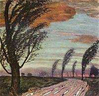 Landscape with storm, c.1920, stuck