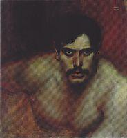 Male Portrait Study (A Bad Conscience), c.1896, stuck