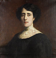 Portrait of a Lady with lace collar, stuck