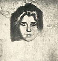 Portrait of writer Juliane Déry, c.1895, stuck