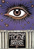 Poster for the International Hygiene Exhibition 1911 in Dresden, 1911, stuck
