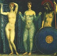 The three goddesses Hera, Aphrodite, Athena, stuck
