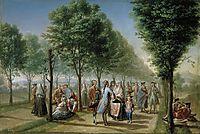 El paseo de las Delicias, en Madrid, 1785, subias