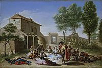 Merienda en el campo, 1784, subias