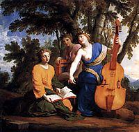 Melpomene, Erato and Polyhymnia, 1655, sueur