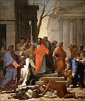 The Preaching of St. Paul at Ephesus, 1649, sueur